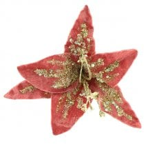 Danish Collection Velvet Sequin Lily - Pink