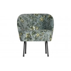 Danish Collection Velvet Vogue Armchair - Grey Poppy