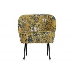 Danish Collection Velvet Vogue Armchair - Mustard Poppy