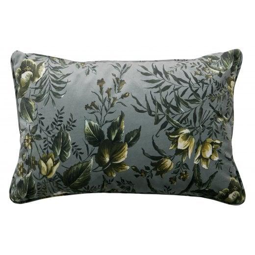Danish Collection Velvet Vogue Cushion - Grey Poppy