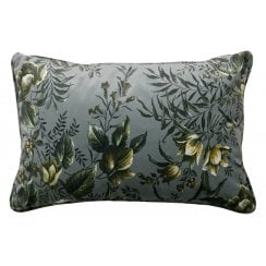 Danish Collection Velvet Vogue Cushion - Grey Poppy