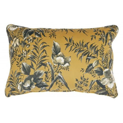 Danish Collection Velvet Vogue Cushion - Mustard Poppy