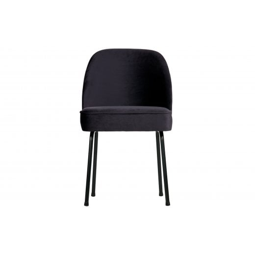 Danish Collection Velvet Vogue Dining Chair - Ink