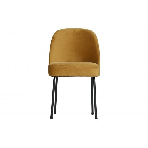 Danish Collection Velvet Vogue Dining Chair - Mustard