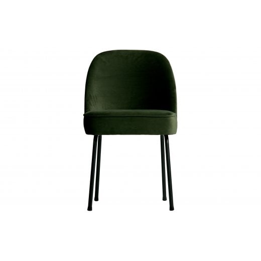 Danish Collection Velvet Vogue Dining Chair - Onyx