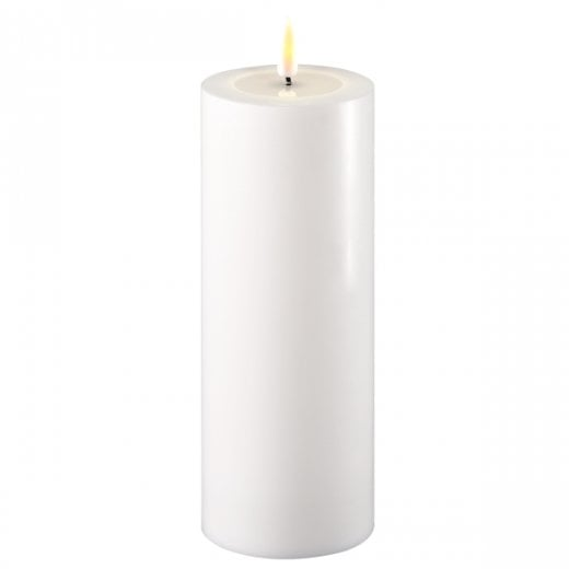 Danish Collection White Battery Operated Led Candle