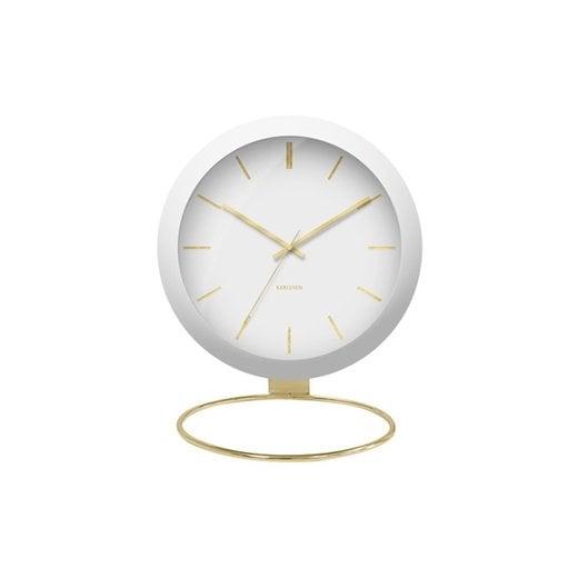 Danish Collection White Globe Table Clock