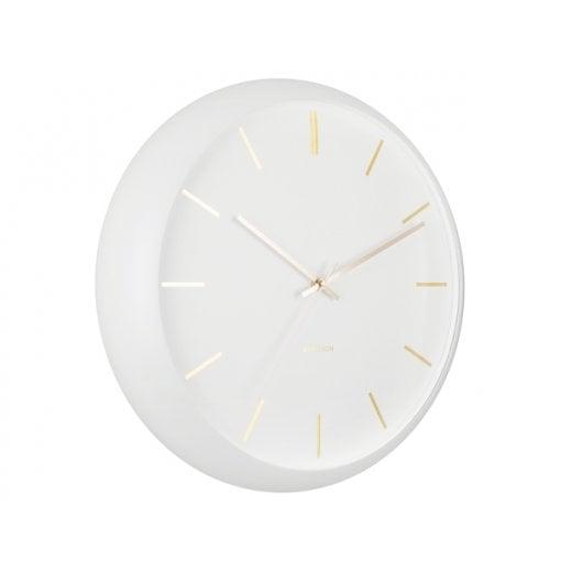 Danish Collection White Globe Wall Clock