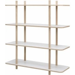 Danish Collection White Shelf Unit