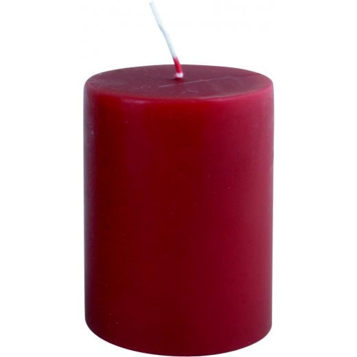 Danish Collection Wide and Plain Candle - Dark Red