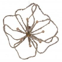 Danish Collection Wire Style Flower with Clip - Champagne