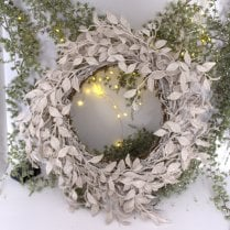Danish Collection Wreath Glittered  - D50cm