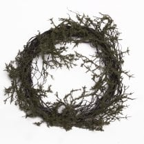 Danish Collection Wreath Natural Twig Moss - D45cm