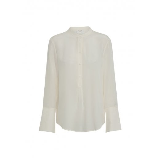 Day Birger et Mikkelsen Day Fan Silk Blouse -  Ivory Shade
