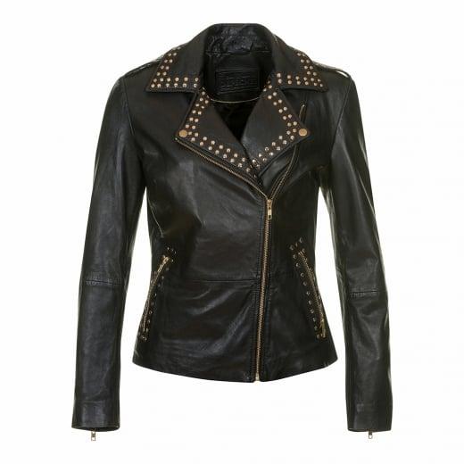 Depeche Biker Jacket with Studs