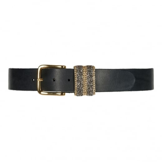 Depeche Jeans Belt with Gold Buckle