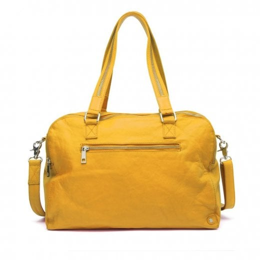 Depeche Large Leather Bag - Yellow
