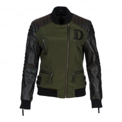 Depeche Leather Bomber Jacket