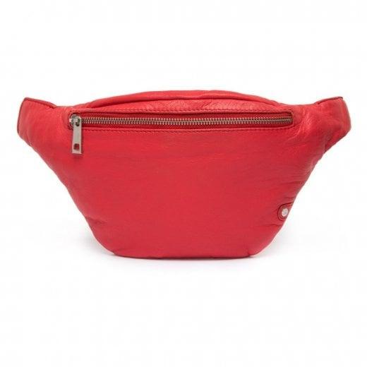 Depeche Leather Bum Bag/Belt Bag - Red
