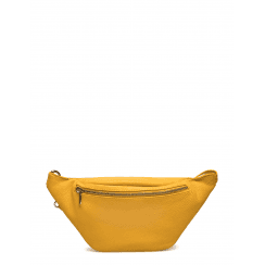 Depeche Leather Bum Bag/Belt Bag - Yellow