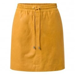 Depeche Leather Mini Skirt - Yellow