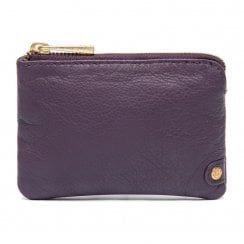 Depeche Leather Purse - Purple