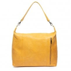 Depeche Medium Leather Bag - Yellow