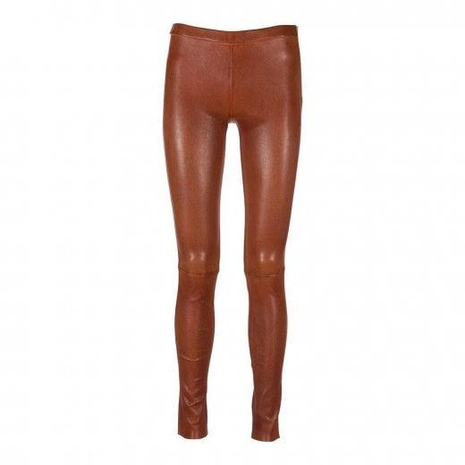 Depeche Plain Leather Leggings