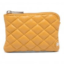 Depeche Quilted Leather Purse - Yellow