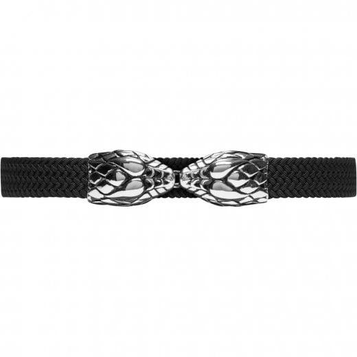 Depeche Snake Buckle Elastic Belt - Silver