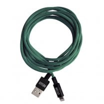 Designletters MyCable Extra Long Lightning Cable - Dark Green 1.85mtr