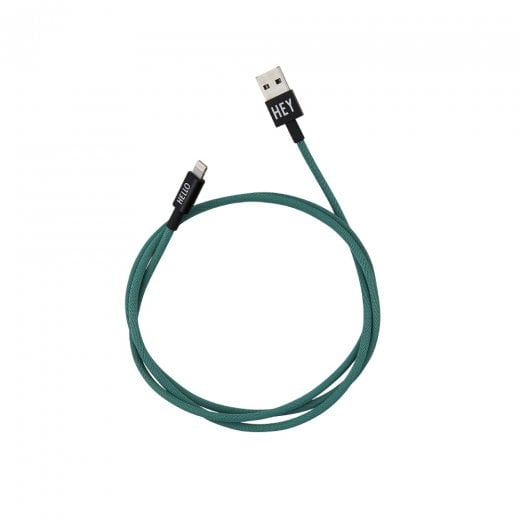 Designletters MyCable Lightning Cable - Dark Green 1 Mtr
