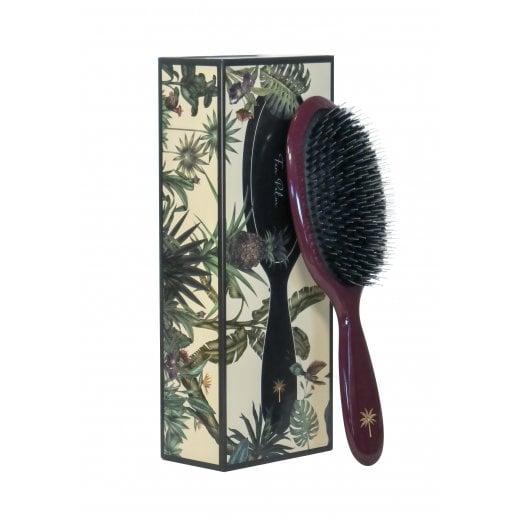 Fan Palm Medium Hairbrush - Wine