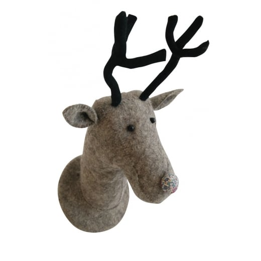 Fiona Walker Reindeer Head With Floral Nose