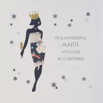FIVE DOLLAR SHAKE Christmas Card - Auntie 16X16CM