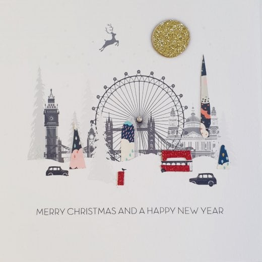 FIVE DOLLAR SHAKE Christmas Card London - 16x16cm