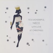 FIVE DOLLAR SHAKE Christmas Card - Niece 16X16CM