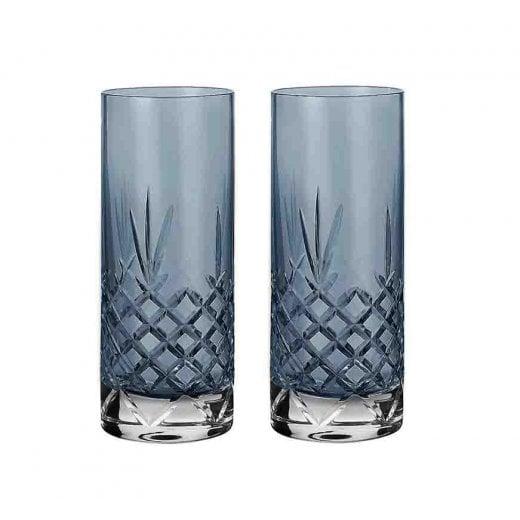 Frederik Bagger Crispy Highball Glasses Sapphire