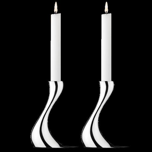 Georg Jensen George Jensen Cobra Stainless Steel set of 2 Candle Sticks