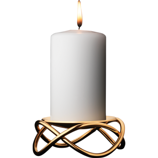 Georg Jensen Glow Gold Plated Stainless Steel Candle Holder