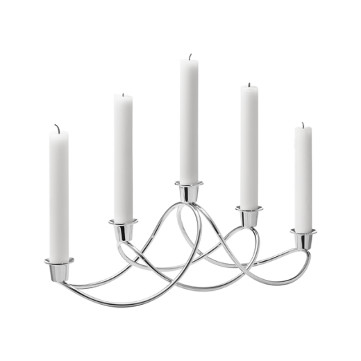 Georg Jensen Harmony Stainless Steel Mirrored Candle Holder