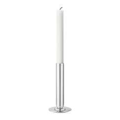 Georg Jensen Large Stainless Steel Manhattan Candle Holder