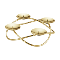 Georg Jensen Season Grand Gold Plated Candle Holder