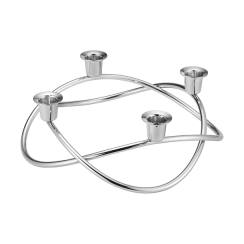 Georg Jensen Season Stainless Steel Mirrored Candle Holder