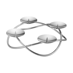 Georg Jensen Seasonal Grand Stainless Steel Candle Holder