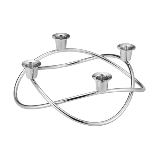 Georg Jensen Seasonal Stainless Steel Mirrored Candle Holder