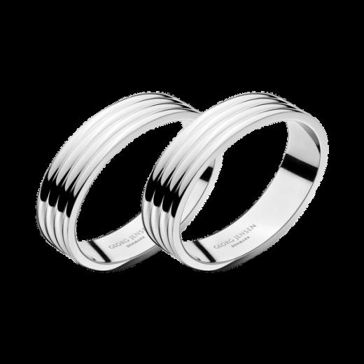 Georg Jensen Stainless Steel Bernadotte Napkin Rings