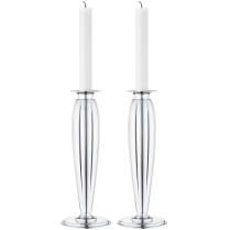 Georg Jensen Stainless Steel Mirrored Bernadotte Candle Holder