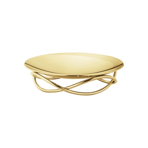 Georg Jensen Steel Gold Plated Glow Dish - Medium
