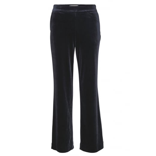 Gestuz Navy Blue Velour Trousers